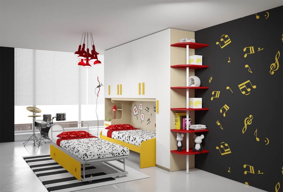 Camere per ragazzi moderne design casa creativa e mobili for Stanzette moderne